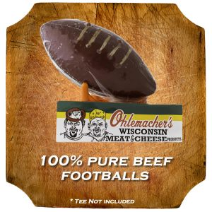 Football Shaped Summer Sausage