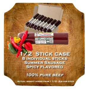 Spicy Flavored Summer Sausage Case