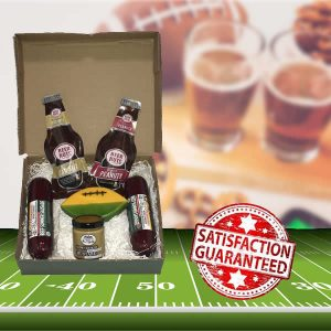 Gift Box 8337 with football shaped Wisconsin cheese